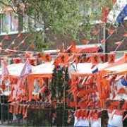 Oranje versierings pakket Holland groot