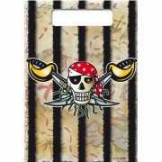 Piraten feestzakjes 8x