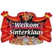 Kartonnen huldebord welkom Sinterklaas