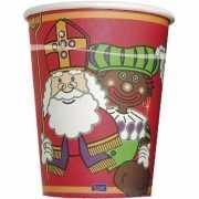 Sint en Piet kartonnen bekers 8x