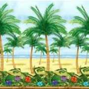Wand of muur deco van palmbomen