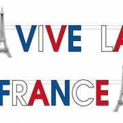 Franse letterslinger Vive le France