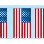 Papieren vlaggenlijnen Amerika