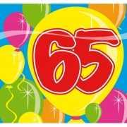 Verjaardags servetten 65 jaar
