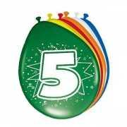 Gekleurde ballonnen 5 jaar