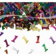 Zak gekleurde 1 jaar confetti