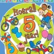 Gekleurd huldebord 5 jaar