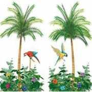 Muurversiering palmbomen