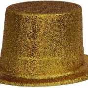 Gouden hoed met glitters
