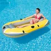 Rubber opblaasboot geel 228 cm