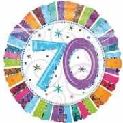 Folie ballon 70 jaar met helium