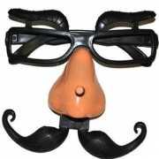 Grappige bril met wenkbrauwen