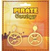 Piraten oorbellen goudkleurig