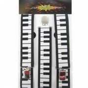 Bretels met piano motief