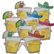 Party bril met tequila glaasjes