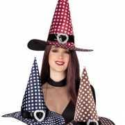 Heksen hoed met witte stippen