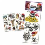 Setje piraat tattoeages 6 stuks