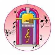 Disco hangdecoratie jukebox 28 cm