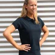 Navy dames poloshirts
