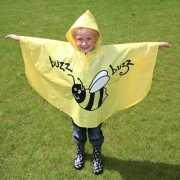 Gele bij regen kapje voor kinderen