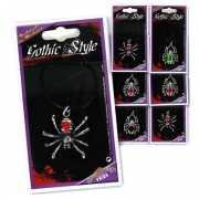 Gothic spinnen ketting zilver
