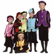 Kinder kostuum Zwarte Piet paars