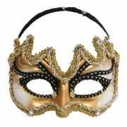 Mannan masker goud met zwart