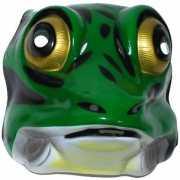 Plastic kikker masker groen