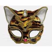 Masker tijger met diamantsteentjes