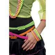Sixties armbandjes neon gekleurd 3 stuks