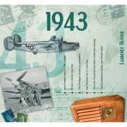 Verjaardagskaart met geboorte jaar 1943