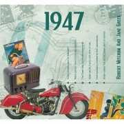 Verjaardagskaart met geboorte jaar 1947
