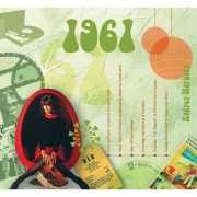Verjaardagskaart met geboorte jaar 1961
