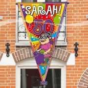 Sarah 50 jaar gevelvlag 100 x 150 cm