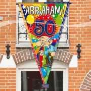 Abraham 50 jaar gevelvlag 100 x 150 cm