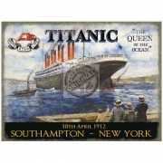 Wandplaatje Titanic queen of the ocean
