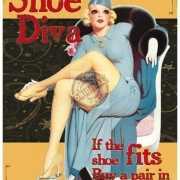 Wandplaatje dames schoenen diva