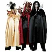 Zwarte heksen mantel voor volwassenen