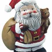 Beschilderbare kerstman van piepschuim 17,5 cm