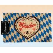 Blauwe kleuren deurmat Munchen 75 x 45 cm