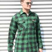Groen met zwart overhemd houthakkers