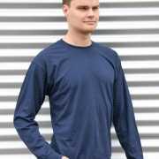 Gildan t shirt lange mouwen navy