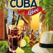 Retro muurplaatje Cuba Libre 15 x 20 cm