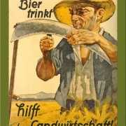Retro muurplaatje Wer Bier Trinkt 15 x 20 cm