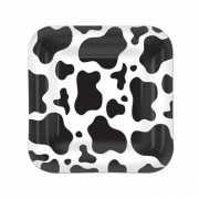 Vierkante koe bordjes 8 stuks