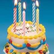 Verjaardags taart kaars 8 cm