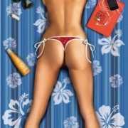 Strandlaken Sexy Vrouw groot