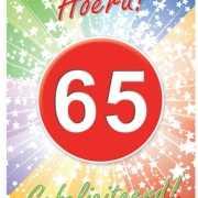 65 jaar thema deurposter