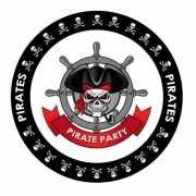 Piraten vlag print bierviltjes