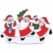 Kerstman raamsticker 40 x 27 cm